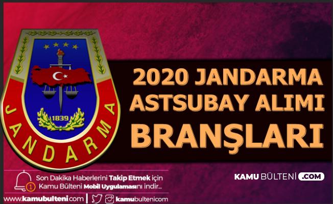2020 Jandarma Kadın Erkek Astsubay Alımı Branşları Belli Oldu