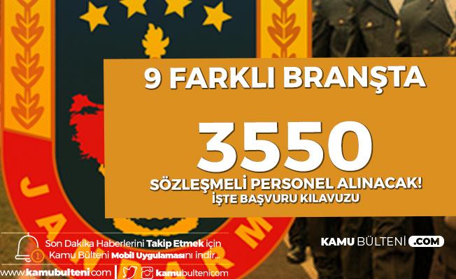 Jandarma'ya Kadın Erkek 3550 Astsubay Alımı - Branşlara Göre Dağılım