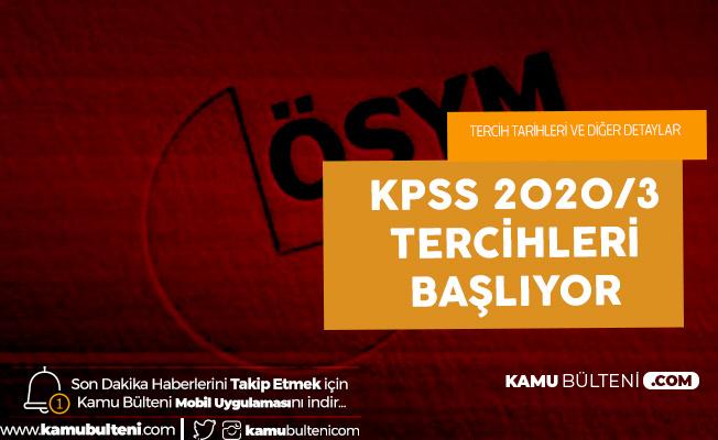 KPSS 2020/3 Tercih İşlemleri Çarşamba Günü Başlayacak
