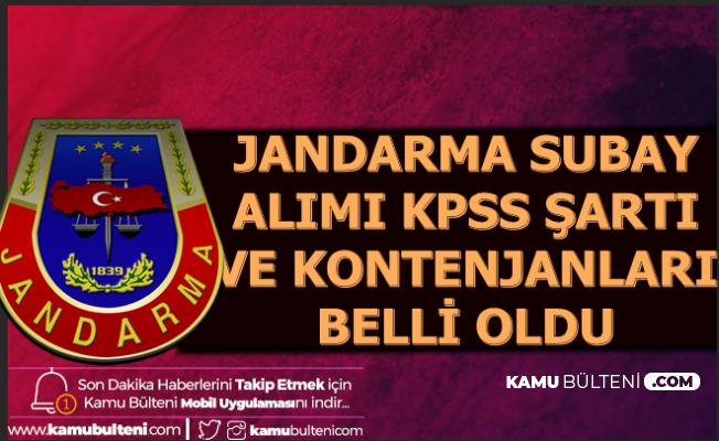 KPSS ile ve KPSS'siz Jandarma Subay Alımı Kontenjan Dağılımı Açıklandı