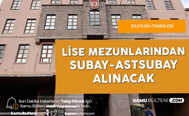 Lise Mezunlarından Subay-Astsubay Adayı Öğrenci Alımı için Başvurular Sürüyor