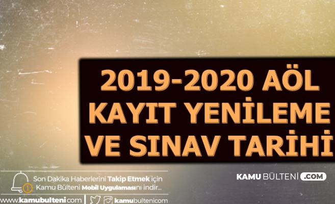 MEB AÖL 2020 Kayıt Yenileme ve 2. Dönem Sınav Tarihleri (Açık Lise Kayıt Yenileme)