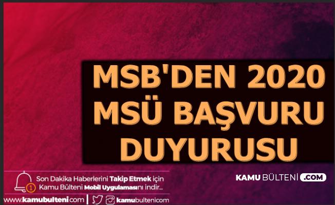 MSB PERTEM'den 2020 MSÜ Başvuru Duyurusu