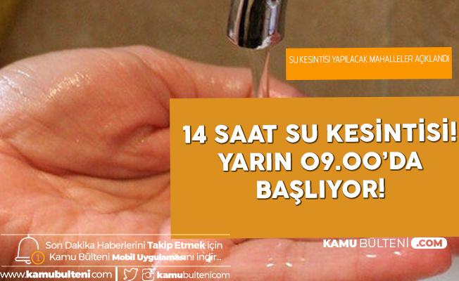 Resmi Açıklama Geldi! İstanbul'da 14 Mahallede 18 Saat Su Kesintisi