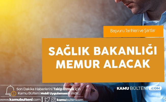 Sağlık Bakanlığı Memur Alımı Başvuruları 15 Ocak'ta Başlayacak (Uzman Yardımcılığı Giriş Sınavı)