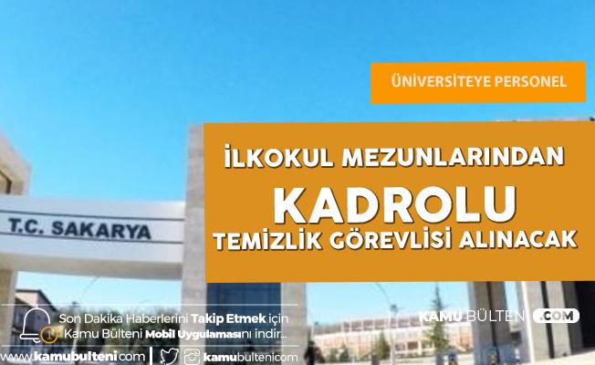Sakarya Üniversitesi'ne İŞKUR üzerinden İlkokul Mezunlarından Temizlik Görevlisi Alınacak