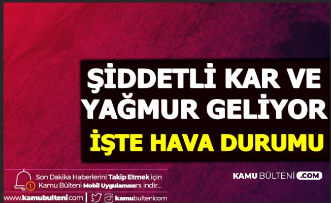 Şiddetli Kar ve Yağmur Başlıyor 30-31 Ocak Hava Durumu (Ankara - İzmir - İstanbul)