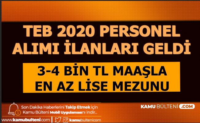 TEB 2020 Personel alımı İlanları Yayımlandı: 3-4 Bin TL Maaşla En Az Lise Mezunu