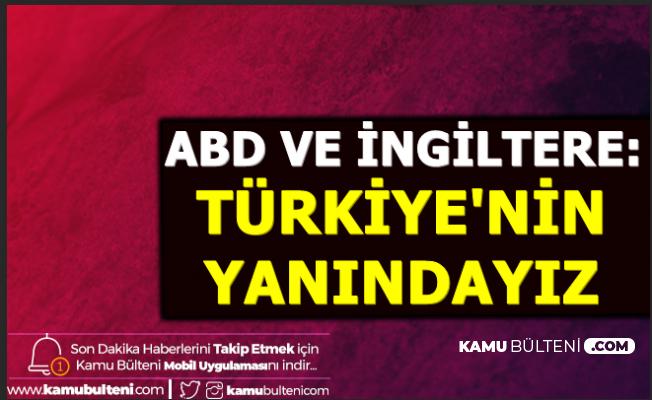 ABD ve İngiltere'den İdlip Operasyonu Açıklaması: Türkiye'nin Yanındayız
