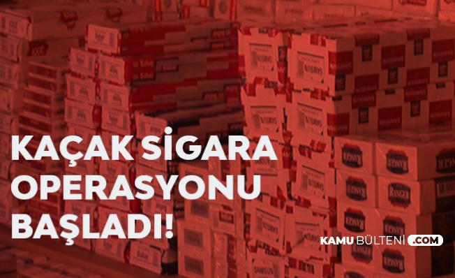 Ankara'da Kaçak Sigara Operasyonu! On Binlerce Paket Ele Geçirildi
