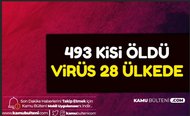 Corona Virüsü 28 Ülkede: 493 Kişi Öldü