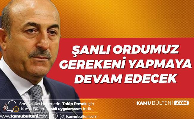 Dışişleri Bakanı Çavuşoğlu'ndan Başsağlığı Mesajı