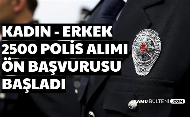 Kadın Erkek En Az Lise Mezunu 2500 Polis Alımı Ön Başvurusu Başladı 2020 PMYO Polislik Başvurusu