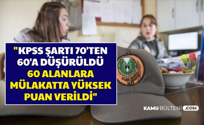 """""""KPSS Şartı 70'ten 60'a Düşürüldü, 60 Alan Mülakatı Geçti"""""""