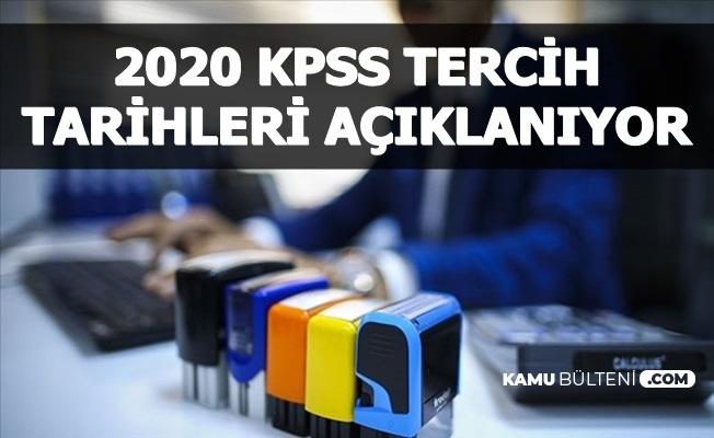 2020 KPSS Tercihi ile Memur Alımı Tarihleri Açıklanıyor