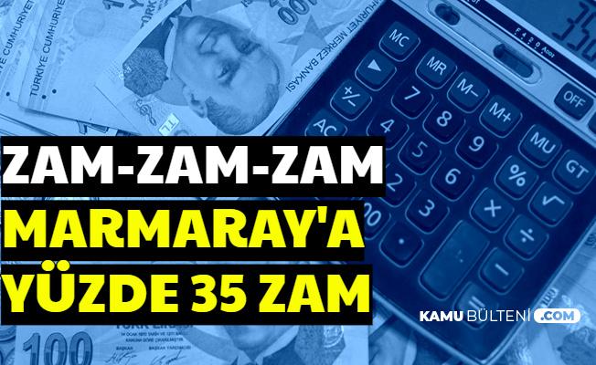 Marmaray Bilet Ücretlerine Yüzde 35 Zam