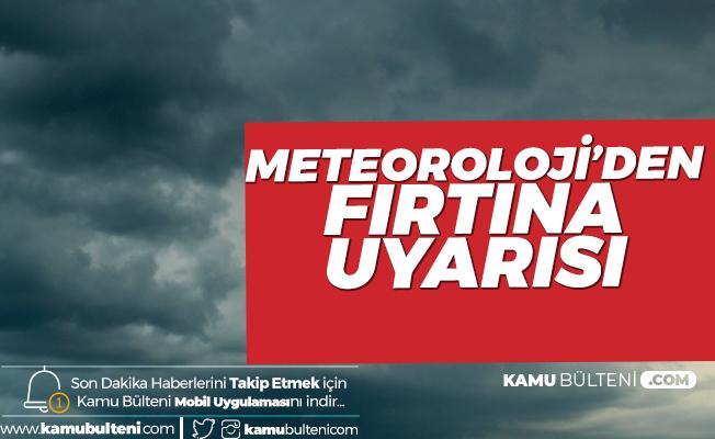 Meteoroloji'den Orta Karadeniz için 'Fırtına' Uyarısı