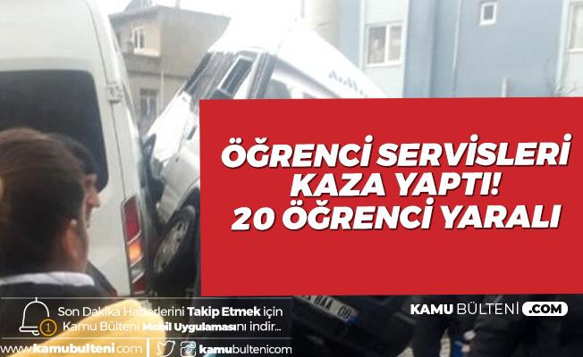Osmaniye'de Öğrenci Servisleri Kaza Yaptı! 20 Öğrenci Yaralandı