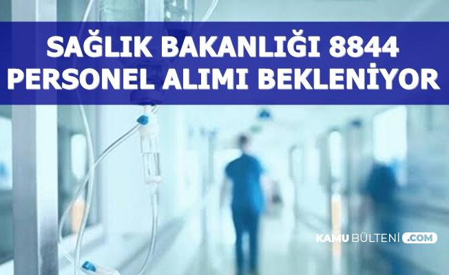 Sağlık Bakanlığı 8844 Personel Alımı Geliyor-Mülakatsız En Az Lise 2020