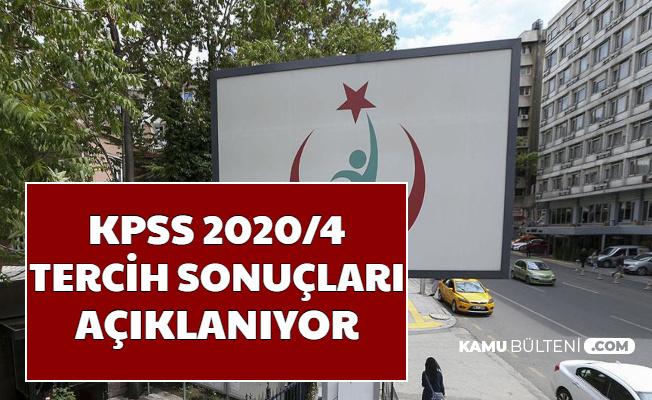 Sağlık Bakanlığı KPSS 2020/4 Tercih Sonuçları Açıklanıyor