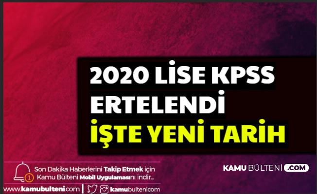 2020 Lise / Ortaöğretim KPSS Ertelendi-İşte Yeni Sınav ve Başvuru Tarihi