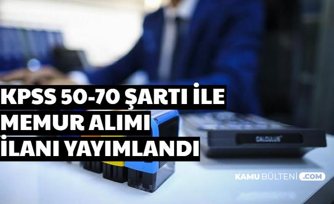 3500-4000 TL Maaşla Belediyeye Memur Alımı-50-70 KPSS ile