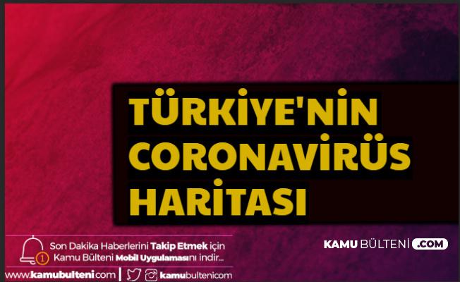 Cumhurbaşkanlığı Yayımladı- İşte Türkiye'nin Coronavirüs Haritası
