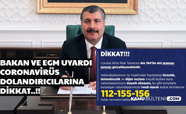 Fahrettin Koca'dan Coronavirüs 184 Hattı Açıklaması: Kötü Niyetlilere Karşı Tedbirli Olun