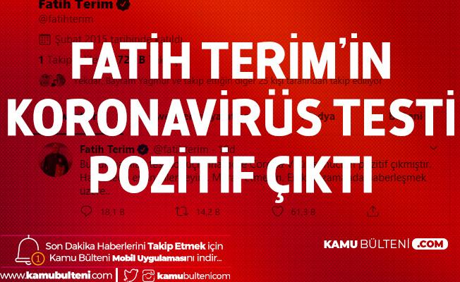 Galatasaray Teknik Direktörü Fatih Terim'in Koronavirüs Testi Pozitif Çıktı