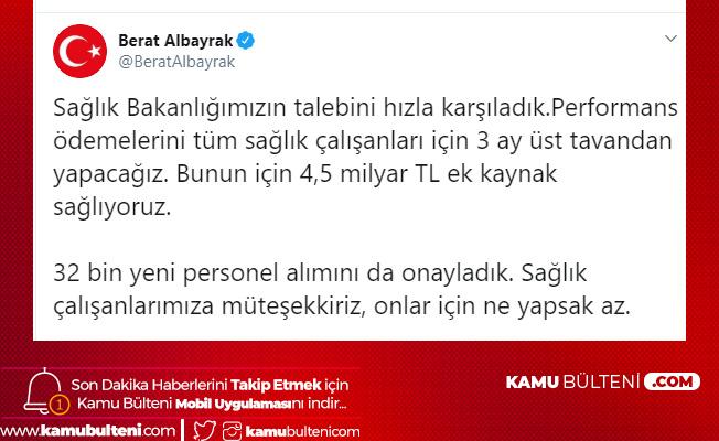 Hazine ve Maliye Bakanı Berat Albayrak: Sağlık Bakanlığı 32 Bin Yeni Personel Alımı Onaylandı