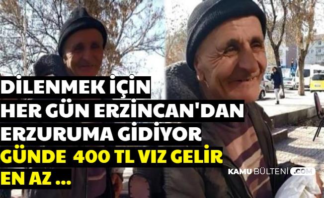 """Her Gün Erzincan'dan Erzurum'a Giden Dilenci: """"Günde 400 TL Vız Gelir En Az..."""""""