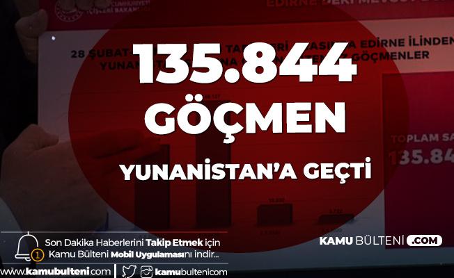 İçişleri Bakanı Süleyman Soylu: 135 Bin 844 Düzensiz Göçmen Yunanistan'a Geçti