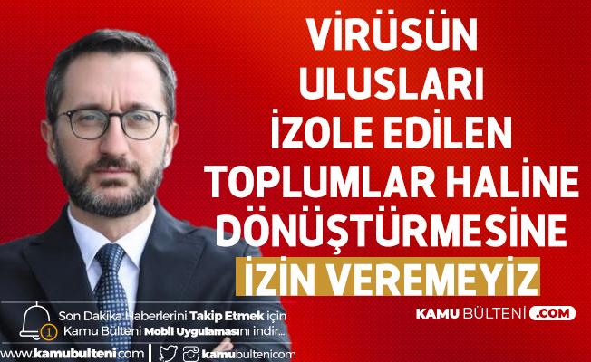 İletişim Başkanı Fahrettin Altun'dan Uluslarası Dayanışma Çağrısı