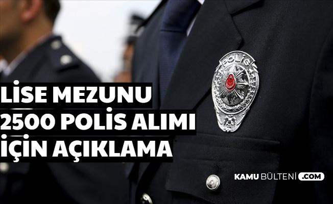 Kadın Erkek Polis Alımı Açıklaması 2020