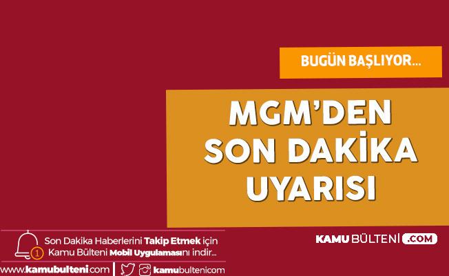 Meteoroloji Uyardı: Bu Şehirlerde Yağışlar Başlıyor (İstanbul , Ankara , İzmir , Bursa , Eskişehir Hava Durumu)