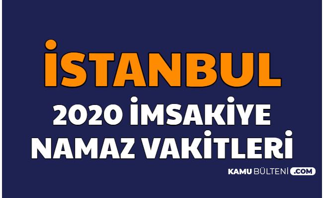 İstanbul 2020 Resimli İmsakiyesi - İftar ve Sahur Vakti