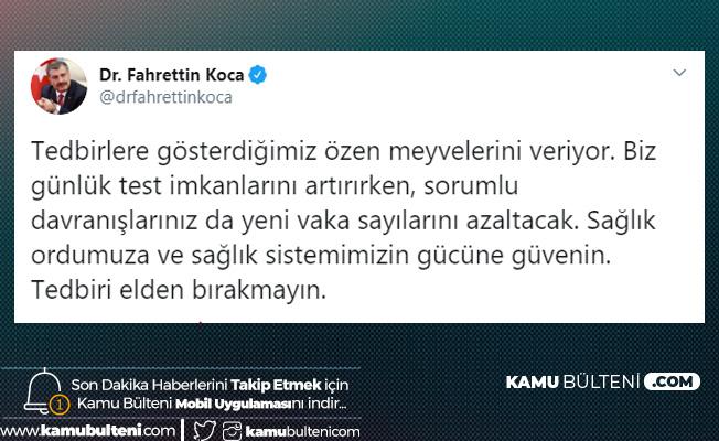 Sağlık Bakanı Fahrettin Koca'dan Son Dakika Açıklamaları: Tedbirlere Gösterdiğimiz Özen Meyvelerini Veriyor