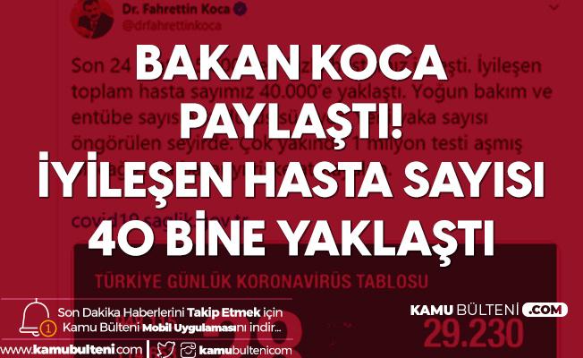 Sağlık Bakanı Fahrettin Koca'dan Son Dakika Açıklaması: İyileşen Hasta Sayısı 40 Bine Yaklaştı