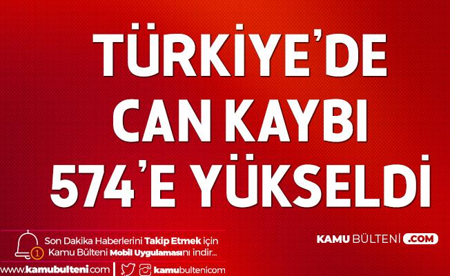 Türkiye'de Koronavirüs! Can Kaybı 574'e Yükseldi