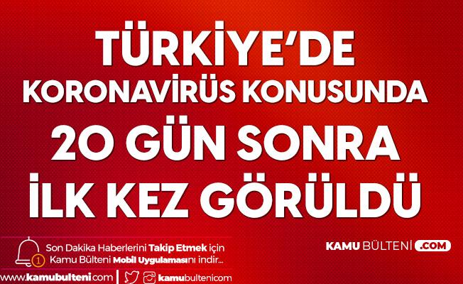 Türkiye'de Koronavirüs Konusunda 20 Gün Sonra Bir İlk