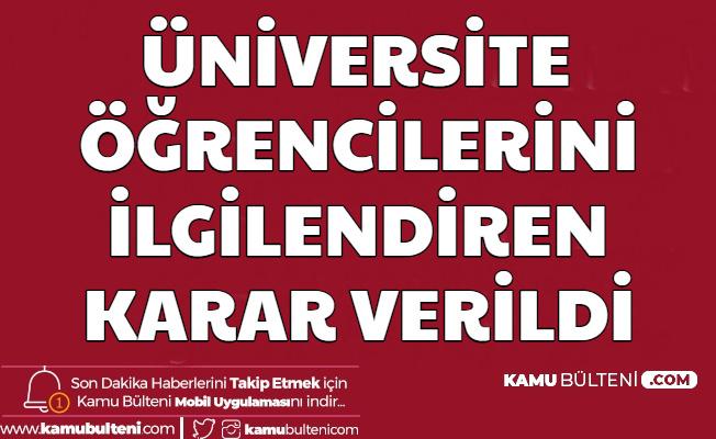 Üniversite Okuyan Öğrenciler Dikkat: Kayıt Dondurma Hakkı Verildi