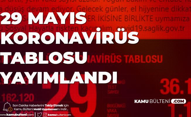 29 Mayıs Koronavirüs Güncel Tablosu Yayımlandı