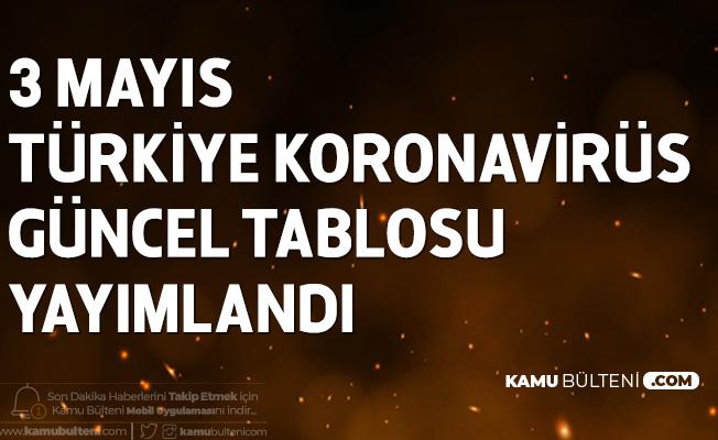 3 Mayıs Türkiye Koronavirüs Güncel Tablosu Yayımlandı