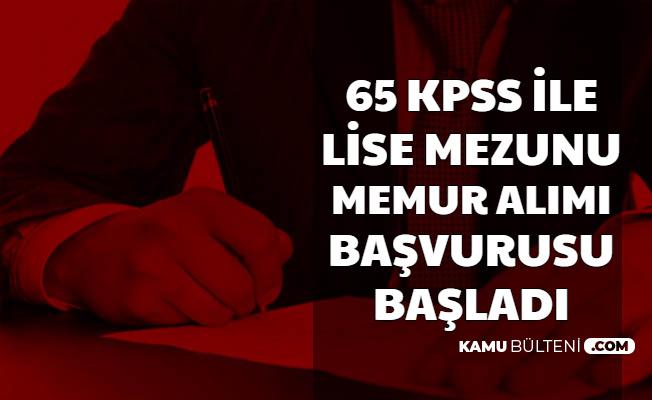 65 KPSS ile Belediye Memuru Alımı Başvurusu Başladı