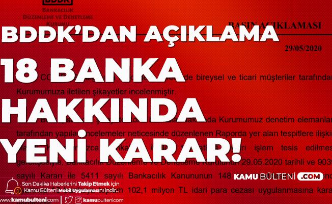 BDDK'dan Açıklama Geldi! 18 Bankaya 102 Milyon Lira Ceza Kesildi