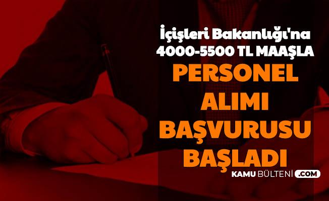 İçişleri Bakanlığı Personel Alımı Başvuru Formu Yayımlandı-4000-5500 TL Maaşla