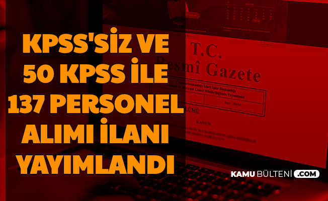 Manisa Celal Bayar Üniversitesi KPSS'siz ve 50 KPSS ile 137 Kamu Personeli Alımı Yapacak