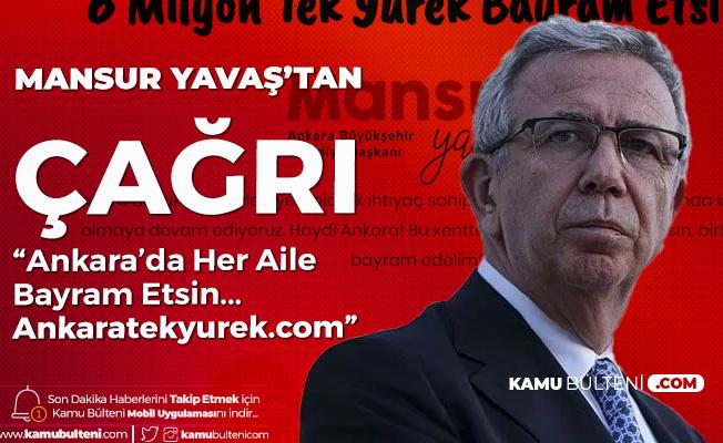 "Mansur Yavaş Duyurdu:""Ankaratekyurek.com"" Üzerinden Su Ver, Bilet Ver, El Ver..."