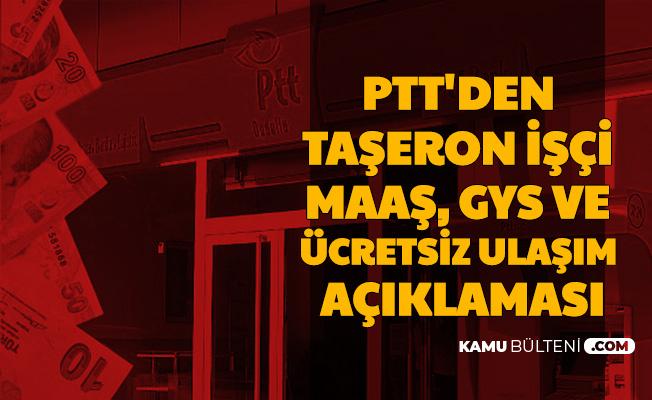 Son Dakika Haberi: PTT Yetkili Sendikasından Taşeron Açıklaması