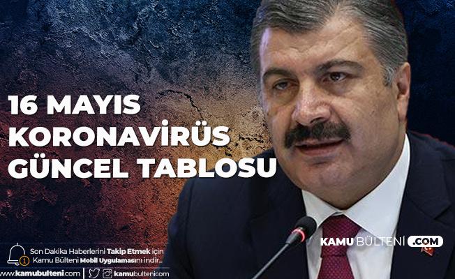 Sağlık Bakanlığı 16 Mayıs Koronavirüs Tablosunu Yayımladı